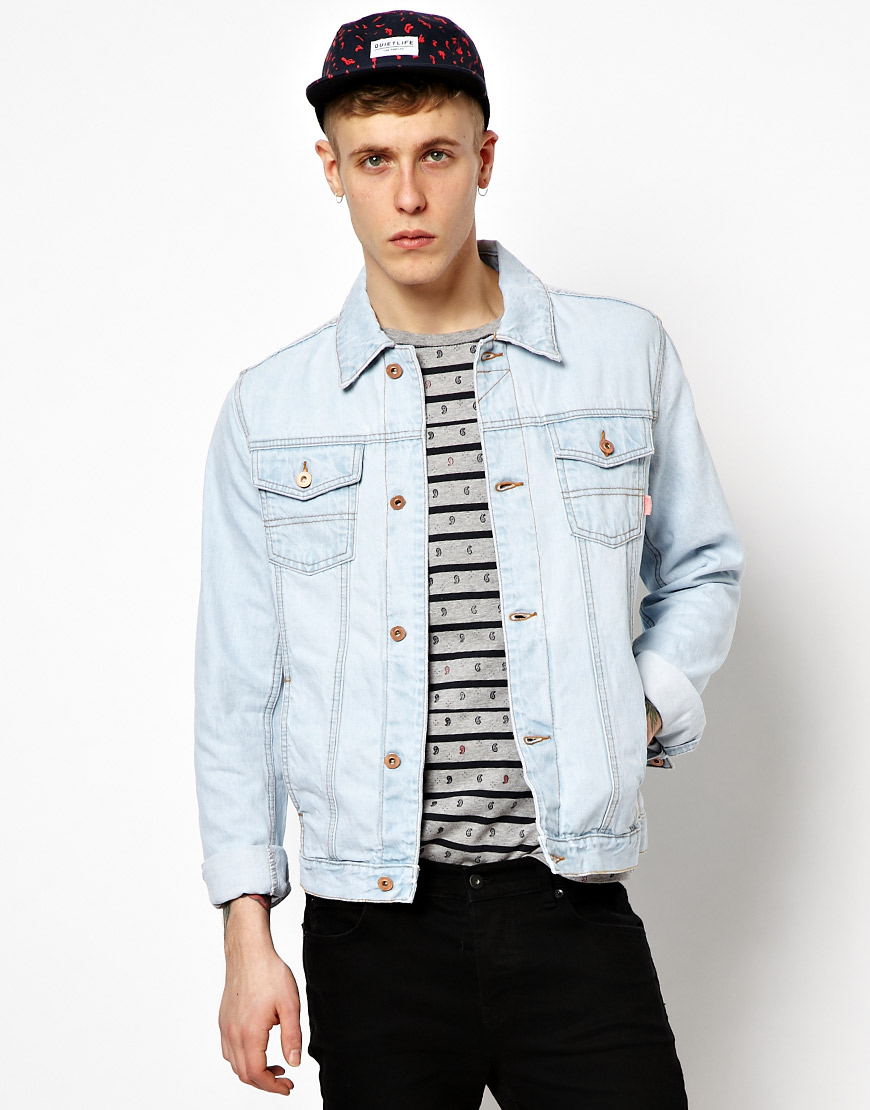 Asos Denim Jacket With Bleach Wash Where To Buy How To Wear