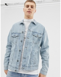 ONLY & SONS Denim Jacket With Painted Arm Stripe