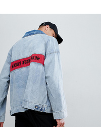 Sixth June Denim Overhead Jacket With Back Logo To Asos
