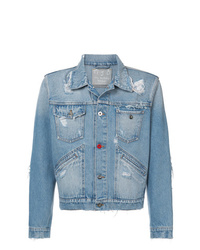 Mjb Distressed Cropped Denim Jacket