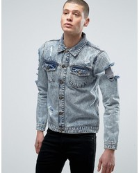 Brave Soul Distressed Denim Jacket