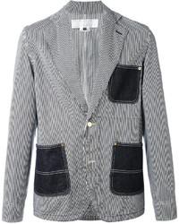 Comme des Garcons Ganryu Striped Denim Jacket