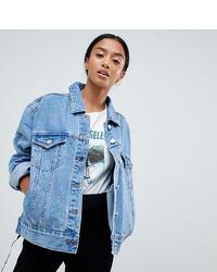 Missguided Petite Oversized Denim Jacket