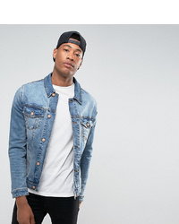 ASOS DESIGN Tall Skinny Denim Jacket In Mid Wash
