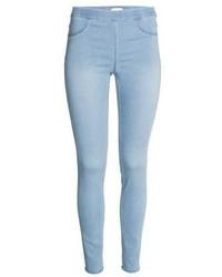 Light Blue Denim Leggings