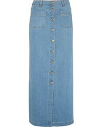 d2f83043e9 Light Blue Denim Maxi Skirts for Women | Women's Fashion | Lookastic UK