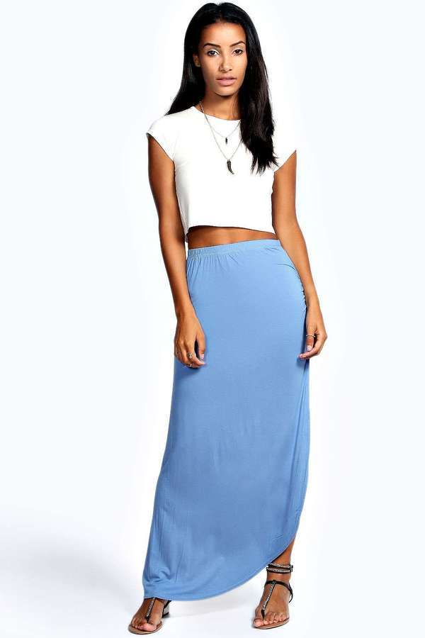 1e76eb2c973 Women s Fashion › Skirts › Maxi Skirts › Light Blue Denim Maxi Skirts  Boohoo Michelle Viscose Maxi Skirt