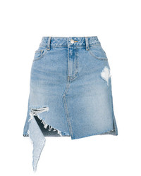 Sjyp Distressed Denim Skirt