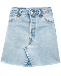 RE/DONE Levis High Waisted Denim Mini Skirt