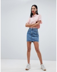 Weekday Wend Denim Mini Skirt