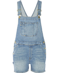 Frame Denim Le Garcon Stretch Denim Overalls