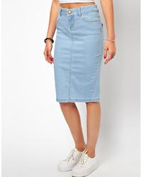 Denim pencil skirt in vintage wash – Modern skirts blog for you