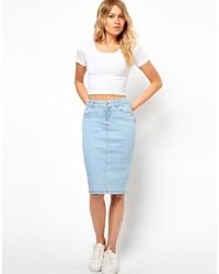 Vila Distressed Denim Skirt | Where to buy & how to wear
