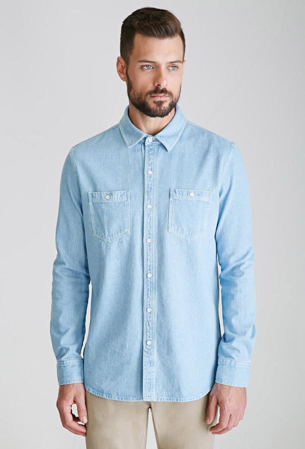 21men 21 Denim Button Down Shirt | Where to buy & how to wear
