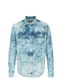 Roarguns Acid Wash Denim Shirt
