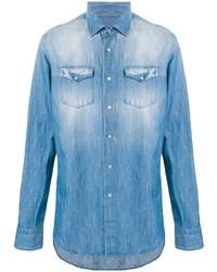 Dell'oglio Chest Pockets Denim Shirt
