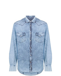 Jacob Cohen Faded Effect Denim Shirt