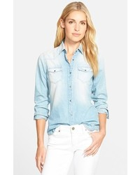 Mavi Jeans Isabel Bleached Denim Shirt