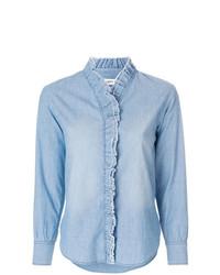 Isabel Marant Etoile Isabel Marant Toile Ruffle Trimmed Denim Shirt