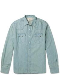 MAISON KITSUNÉ Maison Kitsun Slim Fit Denim Shirt