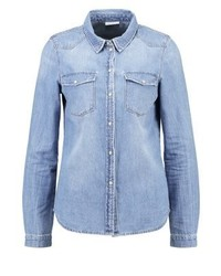 Noisy May Nmcathy Shirt Light Blue Denim