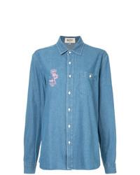 G.V.G.V.Flat Printed Denim Shirt