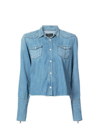 RtA Raw Edge Denim Shirt