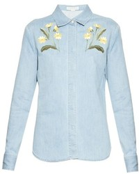 Stella McCartney Theres Botanical Denim Shirt