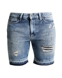 Denim shorts destroyed denim medium 3775750