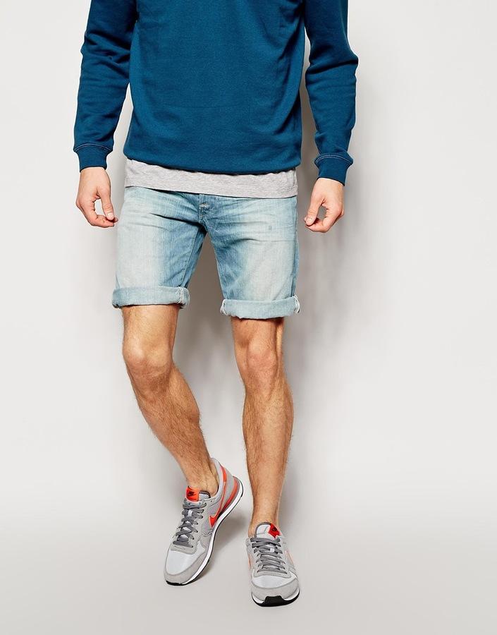 Sportschuhe laest technology Website für Rabatt £121, Replay Denim Shorts Straight Fit Light Sunfaded Distress Wash