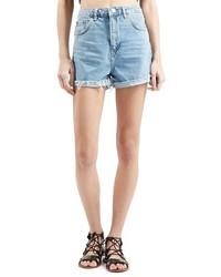 Topshop Girlfriend Denim Shorts