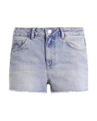 Topshop Mom Denim Shorts Blue Denim
