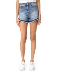 Two tone denim shorts medium 968355