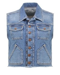Pepe Jeans Elsie Archive Collection Waistcoat Denim
