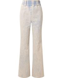 Miu Miu High Rise Wide Leg Jeans