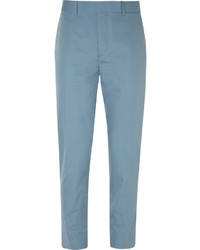 Acne Studios Blue Aron Slim Fit Cotton Suit Trousers