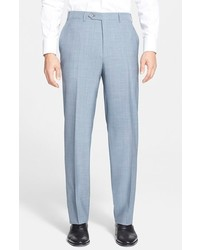 Canali Flat Front Tropical Wool Trousers