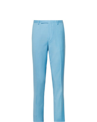 Paul Smith Light Blue A Suit To Travel In Slim Fit Wool Suit Trousers