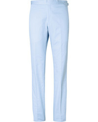 Richard James Slim Fit Cotton Suit Trousers