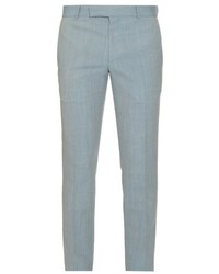 Alexander McQueen Slim Leg Wool And Mohair Blend Trousers