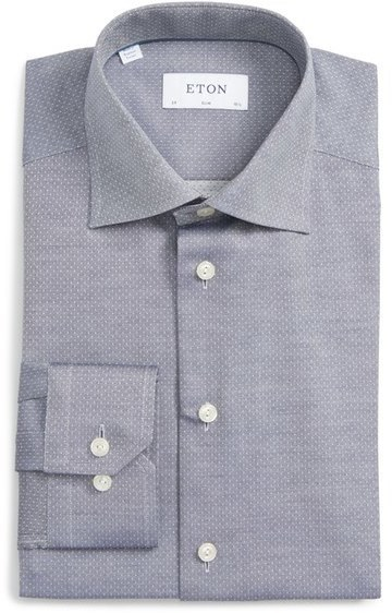ecc802ec04795 ... Eton Big Tall Slim Fit Dot Dress Shirt ...