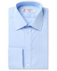 Blue double cuff cotton shirt medium 169923