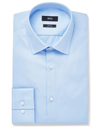Hugo Boss Blue Jenno Slim Fit Cotton Oxford Shirt