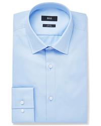 Hugo Boss Blue Jenno Slim Fit Cotton Oxford Shirt