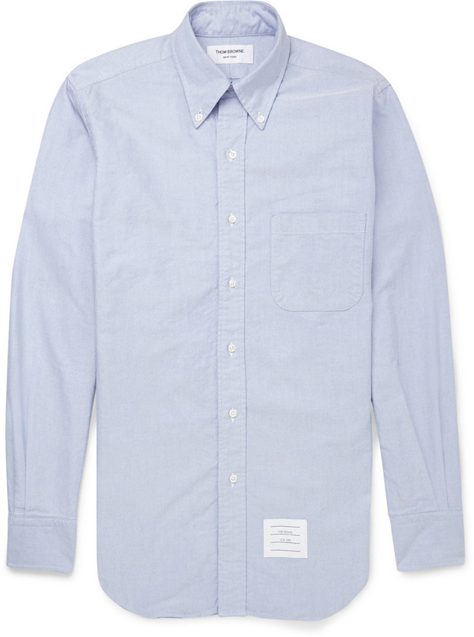 Cheap Price From China button-down collar shirt - Blue Thom Browne Extremely Online Cheap Sale Largest Supplier Shop Cheap Online SgEfb9kRU