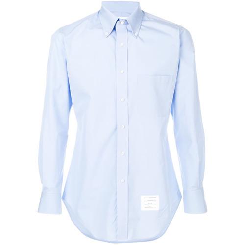 3197f5ae4e196 ... Light Blue Dress Shirts Thom Browne Classic Long Sleeve Solid Poplin Dress  Shirt ...