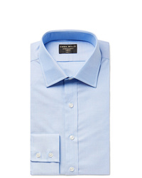 Emma Willis Light Blue Slim Fit Cotton Oxford Shirt