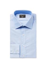 Emma Willis Light Blue Slim Fit Cotton Oxford Shirt