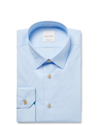 Paul Smith Light Blue Slim Fit Cotton Poplin Shirt