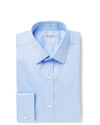 Charvet Light Blue Slim Fit Cotton Shirt